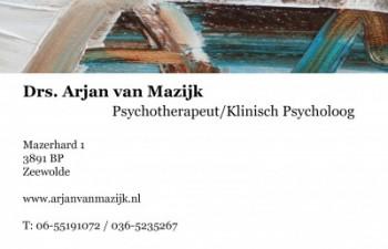 Arjan van Mazijk psychologische hulp zeewolde laren vergoeding